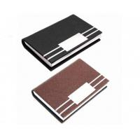 Quality Card Holder PU Leather ID Card Pocket Case Box Keeper for sale