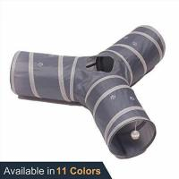 Quality Tube Fun for Rabbits, Kittens, and Dogs - Grey - Collapsible 3 Way Play Toy - Prosper Pet Cat Tunnel for sale