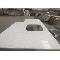 Quality Square Quartz Bathroom Worktops With Stainless Steel Sink Undermounted for sale