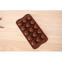 China FDA grade 15 holes in one silicone heart shape chocolate mold on sale
