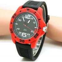 China Silicone Rubber Strap Wrist Cheap Plastic Big Size Men Military Watches on sale