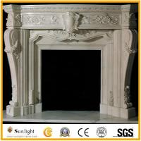 Culture Stone insert white marble fireplaces/stone fireplace with carving