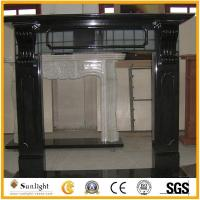 Culture Stone China Black and White marble fireplaces mantels