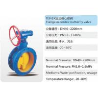 China D343X Flange eccentric butterfly valve on sale