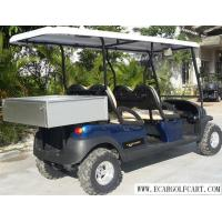 China Dark Blue Electric Utility Golf Cart 4 Passenger With Aluminum Box For Luggage on sale