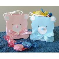 Quality Pink and Blue Teddy Bear Favor Bags for sale