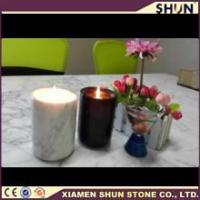 2016 hot sale nature marble candle jar/Votive candle holder/Wedding decoration