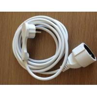 Plug and Jack Extension Cord with Flat Plug