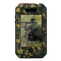 Buy cheap Zinc alloy camo strong metal shockproof cell phone case tempered glass for iphone 4 4s product