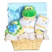 "Quality Personalized Baby Gifts Forever Baby Book ""Cute as Can Bee"" Baby Boy Gift Basket for sale"