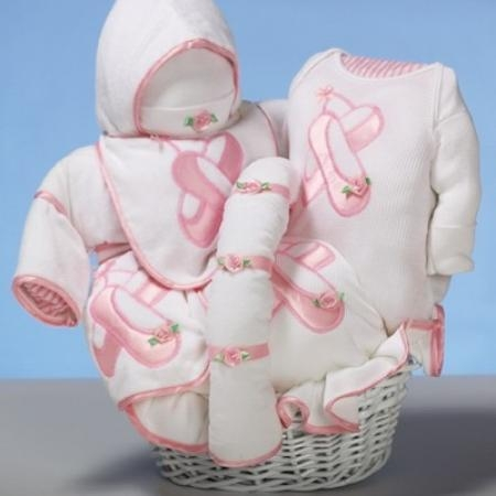 "Buy Baby Gift Baskets ""Ballet Slippers"" Baby Gift Basket at wholesale prices"