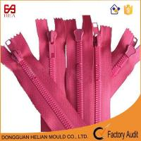 Quality Chunky Zipper with Resin Teeth Plastic Zipper No.8 Pink Color for sale