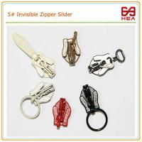 Buy cheap Invisible Zipper Slider #3 #4 Painting Color for Dresses Zipper from wholesalers