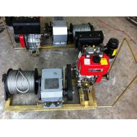 Engine Powered Winch With Steel Wire Rope