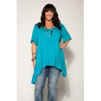 China Desere Plus-Size Women's Scoop Neck Tunic - Turquoise on sale