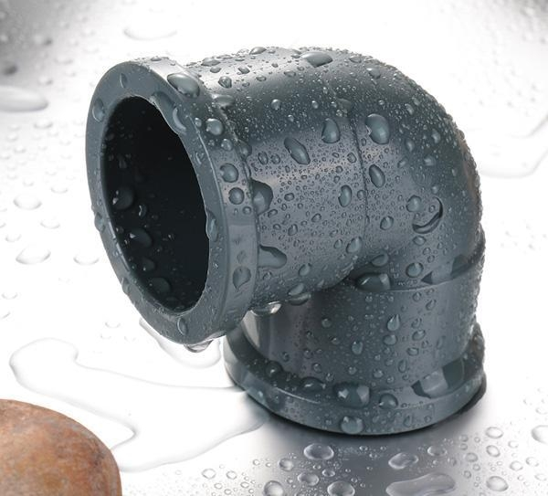 China PP Compression Fitting Product  90 deg elbow