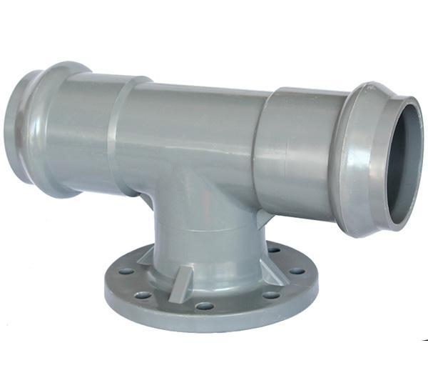 China PP Compression Fitting Product  Flange Tee