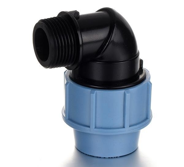 China PP Compression Fitting Product  Male Elbow