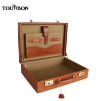 Quality Tourbon New Design Leather Handmade Display Case Suitcase for sale