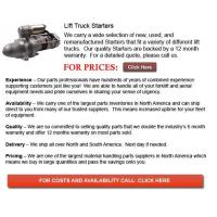 Quality Starters for Forklifts for sale
