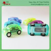 Cheap Colorful 8 Design Transparent Small Plastic Toy Car Back