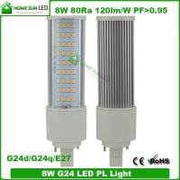 Quality LED PL Lamp 8W Rotatable G24 E27 Base 230V 3 Years Warranty for sale