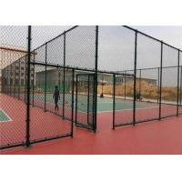 Quality Chain Link Wire Metal Fence Stainless Steel 30-100mm Mesh Stadium Security for sale