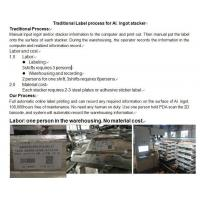Quality Ingot stacker lable printer system for sale