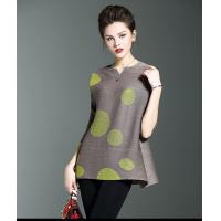 China New Model Folding Polka Dot Women Short Dress on sale