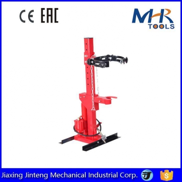 China 1Ton Auto Tool Hand Operated Vertical Hydraulic Strut Coil Spring Compressor