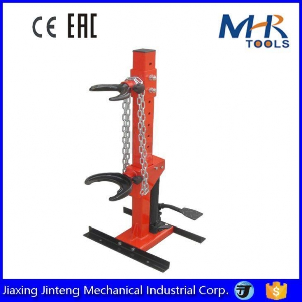 Buy 1Ton Auto Tool Manual Operated Vertical Hydraulic Strut Coil Spring Compressor at wholesale prices
