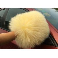 Quality Sheepskin Car Wash Mitt Long Hair Real Australia Lambswool Car Cleaning Glove for sale