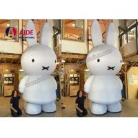 China White Inflatable Bunny Rabbits , Rent Busniess Inflatable Character Balloons on sale