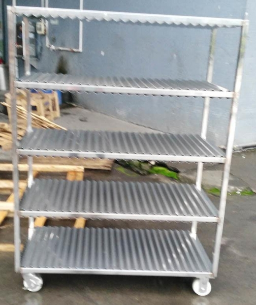 China Full 304 Stainless Steel Trolley With Square Tube Thickness 1.0mm Slideable Available