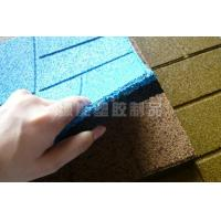Quality EPDM Rubber Granules Floor tile with particles for sale