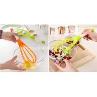 New Design Colorful Silicone Egg Whisk/Beater With Rotatable Handle
