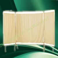 Buy cheap with wheels movable folding stainless steel frame hospital ward screen from wholesalers