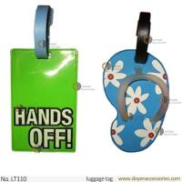 China rubber airplane baggage tag wholesale with paper card on sale
