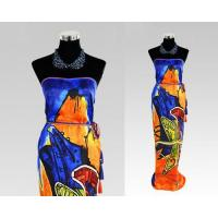 Quality Large 100% Silk Beach Head Square Printing Paisley Wrap Skirt Scarf for sale