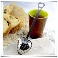 China Tea Time Convenience Heart Tea Infuser Heart-Shaped Stainless Herbal Tea Infuser Spoon on sale