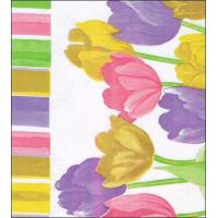 China Dutch Tulip Pastel Oilcloth Fabric on sale