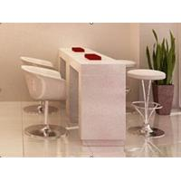 China manicure tables for sale Artificial stone salon furniture bar table BMT-002 on sale