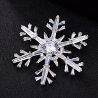 Quality Christmas pin brooch cubic zirconia corsage brooch for sale