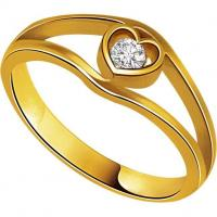 China Rings Solitaire Heart Shape Diamond 18K Ring on sale