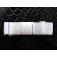 Clips and Bitty bow Item NO:White satin silver edage bitty bow
