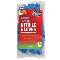 Quality SQUEEGEES AND DUSTERS 2-20Nitrile Gloves 12 Pack- Blue for sale