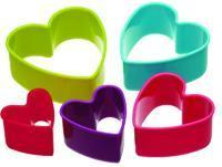 Cookie Cutters 5pcs Heart Shape Plastic Cookie Cutter Set 7791-5