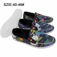 China New style Fashion Low price men's slip on injection casual shoes canvas shoes on sale