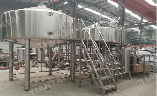 China 5000L Steam Mash Tun for beer brewhouse