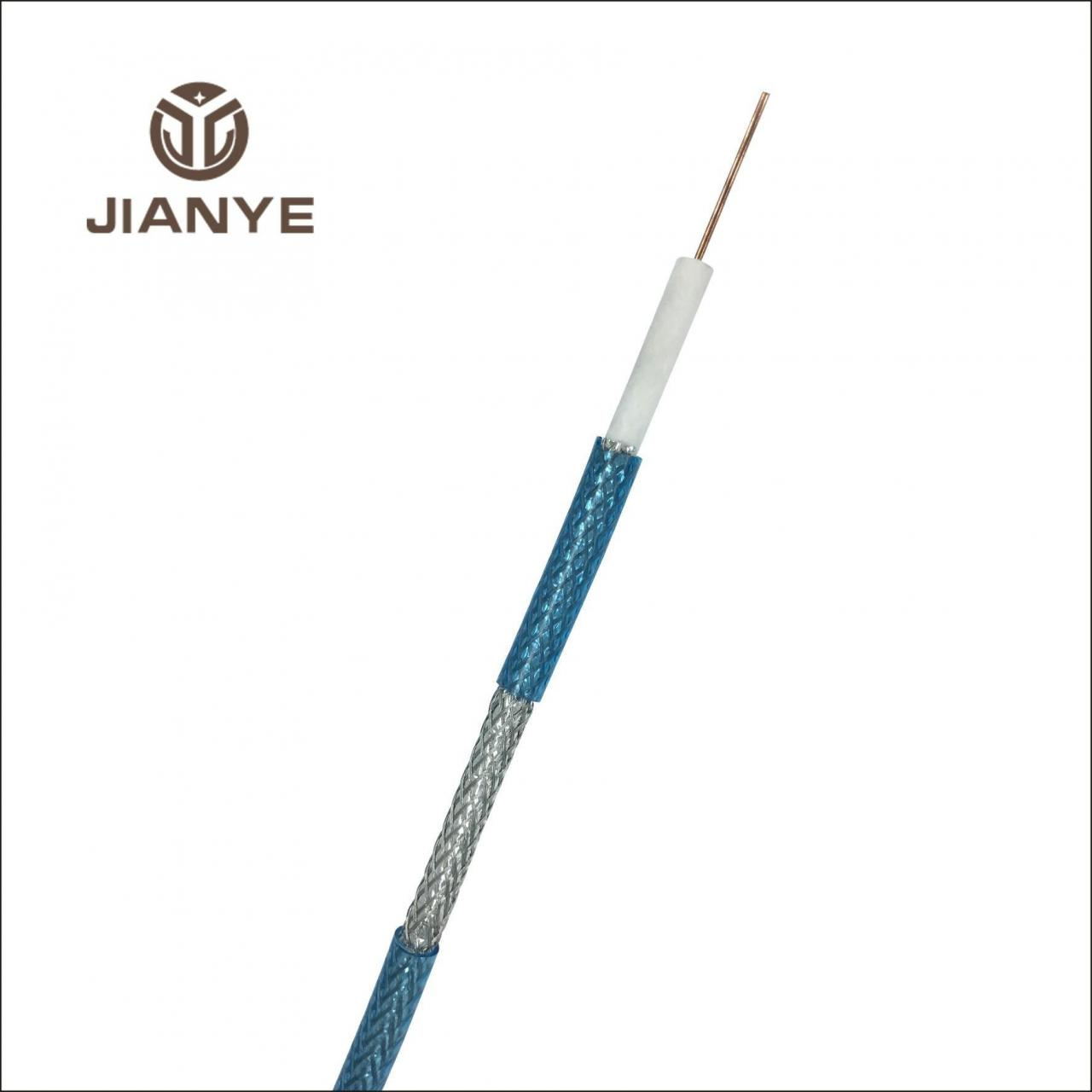 Coaxial Cable RG6 TRANSPARENT BLUE Coaxial Cable